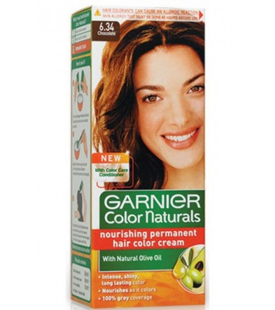 Garnier color natural cream nourishing permanet hair color -chocolate 6.34
