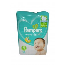 Pampers Baby Dry - 4 - 9 to 14 kg - 16 Diapers 4015400751403