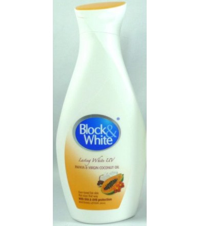 block & white lotion-papaya and virgin coconut oil 100 ml