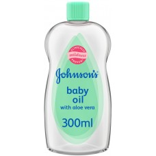 JOHNSON'S Baby, Baby Oil with Aloe Vera and Vitamin E, 300ml