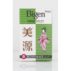 Bigen Powder Hair Dye Brown Black B, 6 gm
