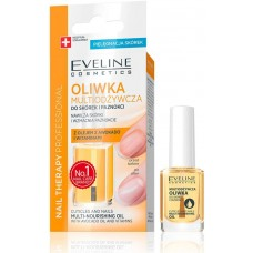 EVELINE NAIL THERAPY PROFESSIONAL CUTICLES AND NAILS MULTI-NOURISHING OIL 12ML