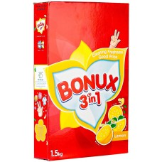 Bonux Lemon 3 In 1 Detergent Powder -Top load - 1.5 Kg