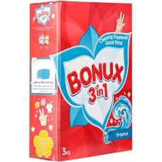 Bonux Original 3 In 1 Detergent Powder -Top load - 3 Kg